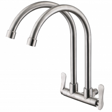 Wall Mounted Double Spout Stainless Steel 304