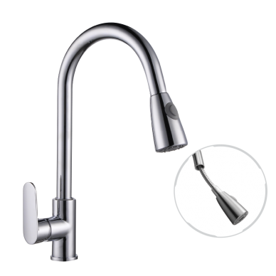 Pillar-Mounted Sink Tap With Pull Out Shower (Mixer)