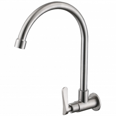 Wall Mounted Kitchen Faucet Stainless Steel 304