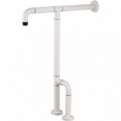 Wall & Floor Mounted Grab Bar For Water Closet