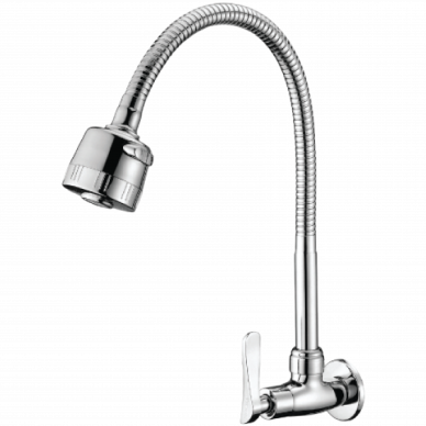 Wall Mounted Flexible Spout Brass